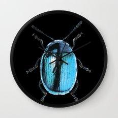 Insecte blue métal colors fashion Jacob's Paris Wall Clock