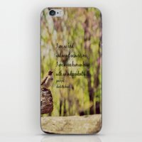jane eyre iPhone & iPod Skins featuring I Am No Bird Jane Eyre Charlotte Bronte Quote by KimberosePhotography