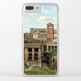 Christoffer Wilhelm Eckersberg View of the Cloaca Maxima, Rome Clear iPhone Case