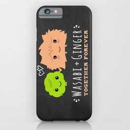 Wasabi and Ginger Together Forever | Cute Sushi Lover's Couple iPhone Case