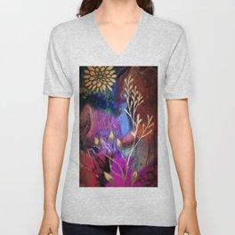 Flower Blues Unisex V-Neck