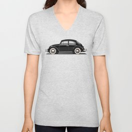 Legendary Classic Black Bug Vintage Retro Cool German Car Wall Art and T-Shirts Unisex V-Neck
