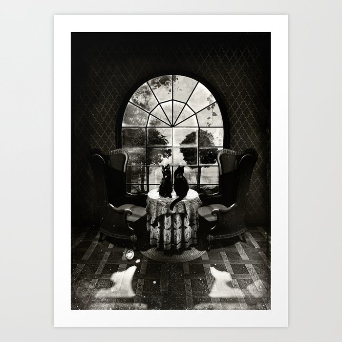 Room Skull B&W Kunstdrucke