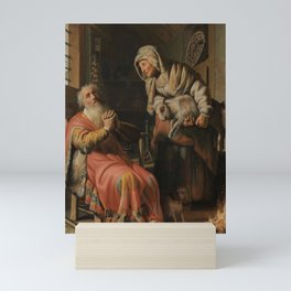 Tobit and Anna with the Kid Goat Mini Art Print