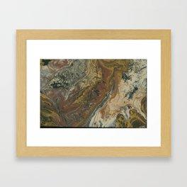 Metallic earth Framed Art Print