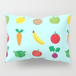 A Cute Concoction of Fruit and Vegetables. Vegan Heaven! Pillow Sham
