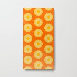 Earth Mod Abstract Sun Orange Metal Print
