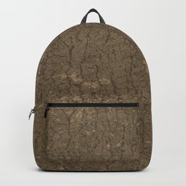 Rustic Tree Bark Pattern Backpack