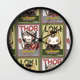 Siblings Poster Wall Clock