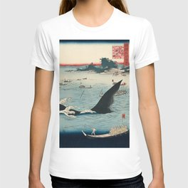 Whale hunting at the island of Goto in Hizen by Hiroshige, 1859 T-shirt