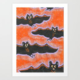 Batty Flight Art Print