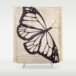 Butterfly in a Book Shower Curtain