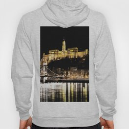 Budapest Chain Bridge And Castle Art Hoody