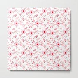 Send Noodz -red/pink Metal Print