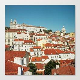Lisbon view, Portugal Analog 6x6 Kodal Ektar 100 (RR 166) Canvas Print