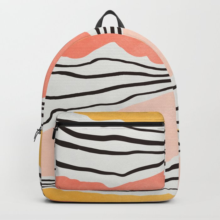 Modern irregular Stripes 01 Rucksack