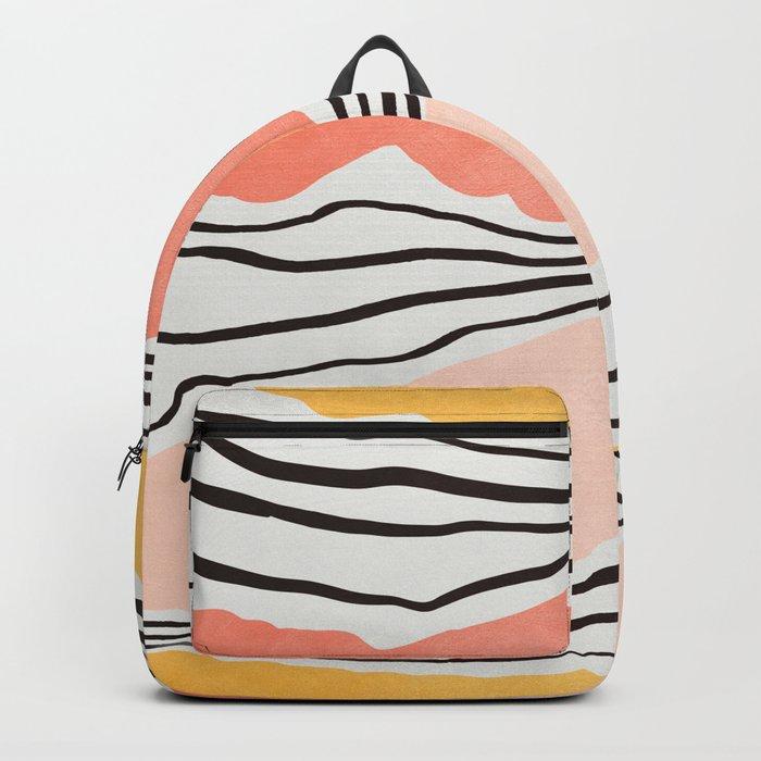Modern irregular Stripes 01 Rucksack
