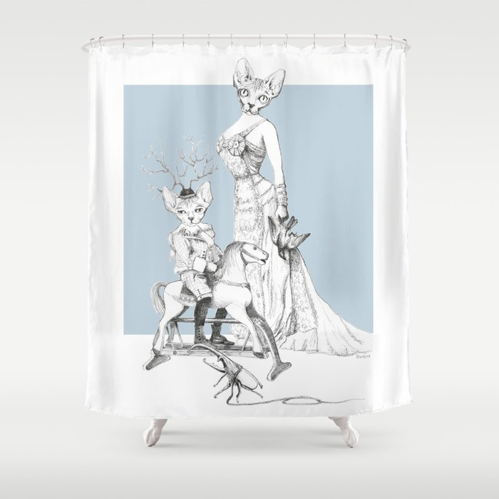 Weird Wonderful Bald And Beautiful Shower Curtain