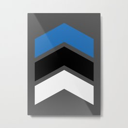 Chevron Estonia Flag Colors Metal Print