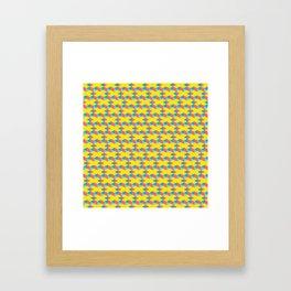 X pattern Framed Art Print