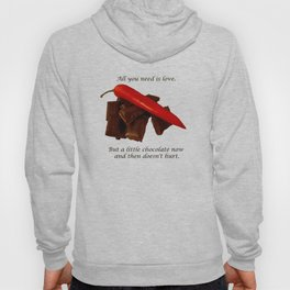 Dark Chocolate and Red Hot Chilly  Hoody