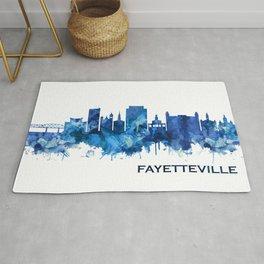 Fayetteville North Carolina Skyline Blue Rug