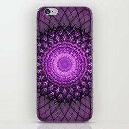 Purple and pink mandala iPhone Skin