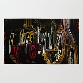 Wine in Red and Gold Rug