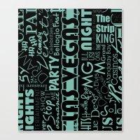 las vegas Canvas Prints featuring Las Vegas by Chelsea Dianne Lott