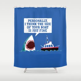 Polite Jaws Shower Curtain