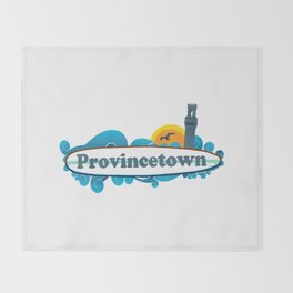 Provincetown - Cape Cod. Throw Blanket