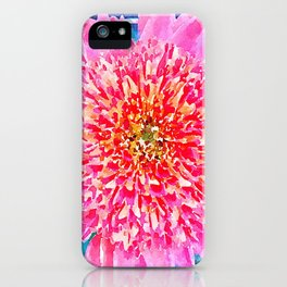 Pink Watercolor Flower iPhone Case