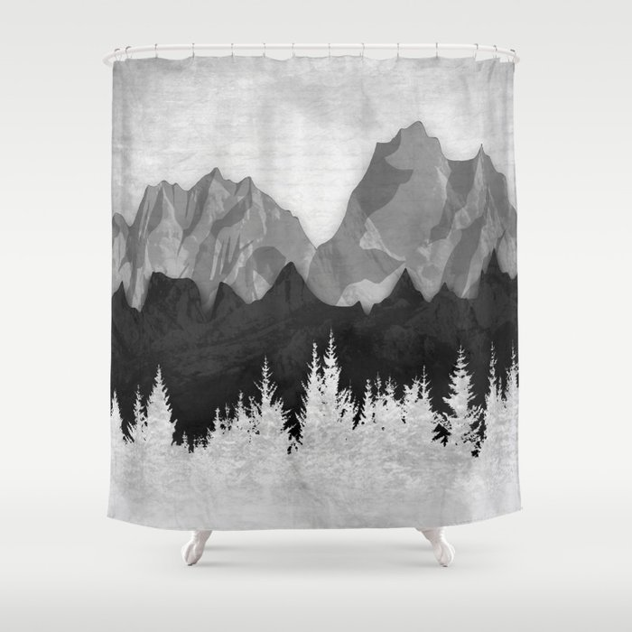 Layered Landscapes Shower Curtain By Amandaroyale