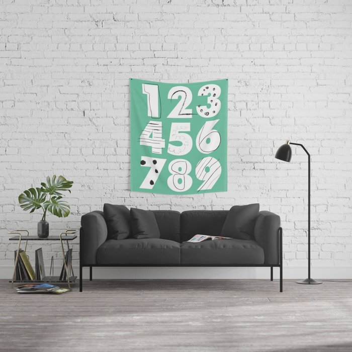 Funky Numbers Wall Tapestry