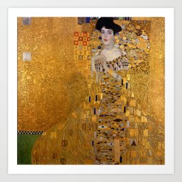 THE LADY IN GOLD - GUSTAV KLIMT Art Print