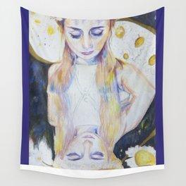 Celestial Daisy Girl Wall Tapestry