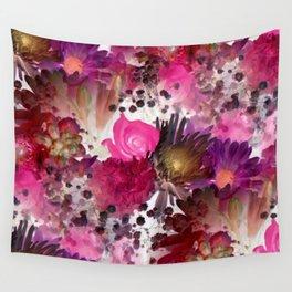 Flower Garden in Pinks Wall Tapestry