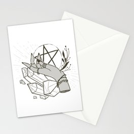Witchy things - white Stationery Cards