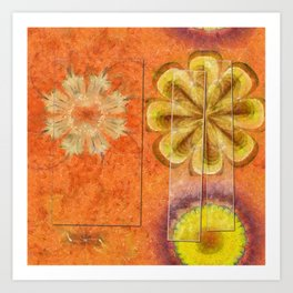 Dorsel Trance Flower  ID:16165-115815-42891 Art Print