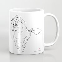 wind Mugs featuring Horse (Wind) by Paper Horses