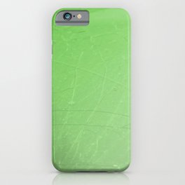 Shattered green flash ombre gradient iPhone Case