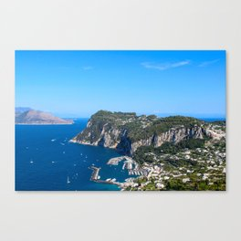Blue Skies in Capri, Italy Canvas Print