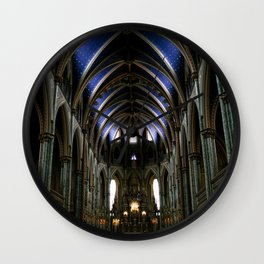 Inside Ottawa's Notre Dame Cathedral Wall Clock