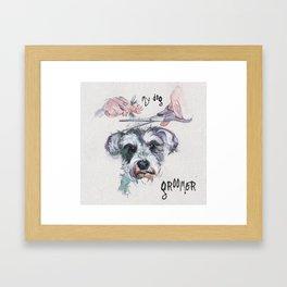 My dog groomer | By Sarah Cannon Framed Art Print
