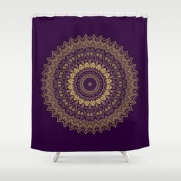 Harmony Circle of Gold on Purple Shower Curtain