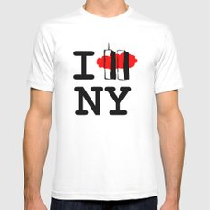 I love New York Mens Fitted Tee White MEDIUM