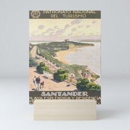 Werbeplakat santander. circa 1930 Mini Art Print
