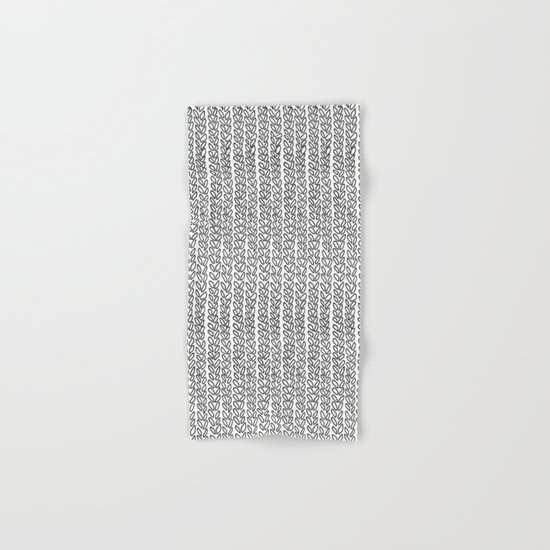 Knit Outline Hand & Bath Towel