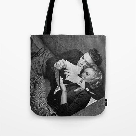 Elvis and Marilyn Tote Bag