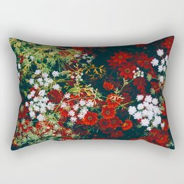 The Flower Bed (Color) Rectangular Pillow
